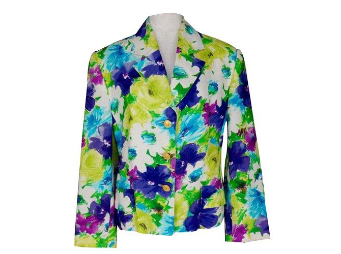 Céline Celine Floral Linen Blazer Jacket Jackets Linen Multiple colors ref.62130