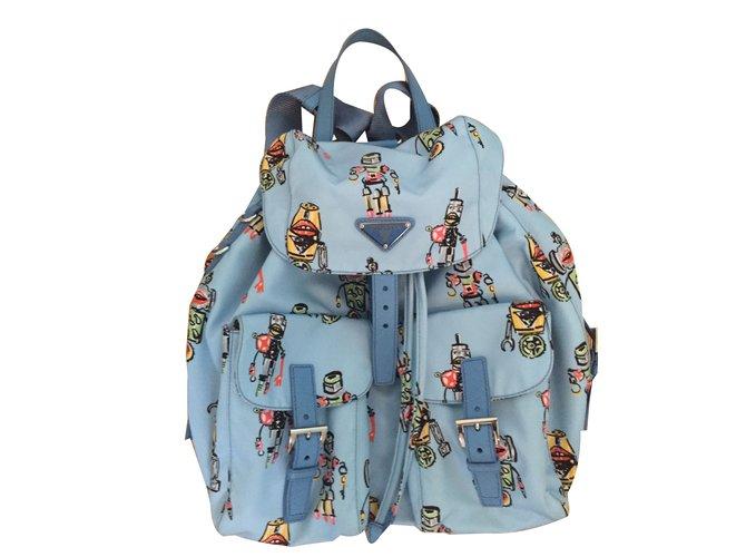 a9c1ec76e817 Prada Backpacks Backpacks Nylon Blue ref.62169 - Joli Closet