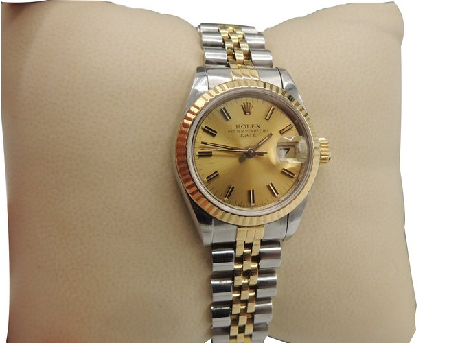 Rolex Rolex Oyster Perpetual Date Fine Watches Steel Yellow Gold