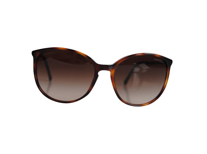 Chanel Sunglasses Sunglasses Plastic Brown ref.62250 - Joli Closet 9e865ed8d