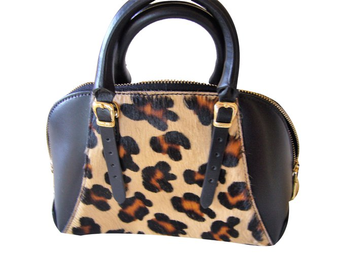 Guess Handbags Leather Leopard Print Ref 62280