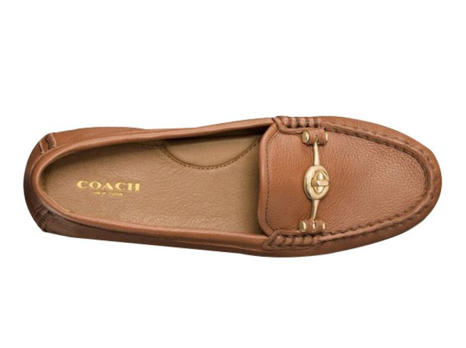 Coach Flats Flats Leather Brown ref