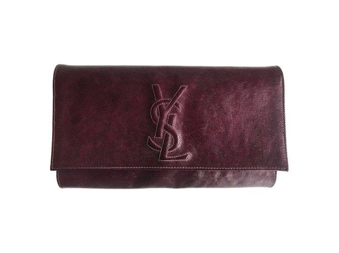 09dd1ab990f Yves Saint Laurent YVES SAINT LAURENT Belle De Jour Clutch Clutch bags  Other Purple ref.