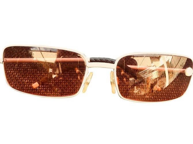 91571ac3b8b027 Lunettes Chanel Chanel Verre Argenté,Gris ref.62682 - Joli Closet