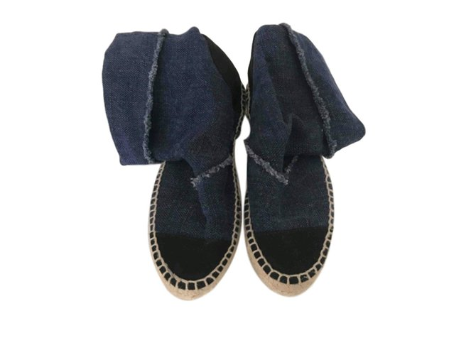 Chanel Espadrilles Espadrilles Denim Blue ref.62733