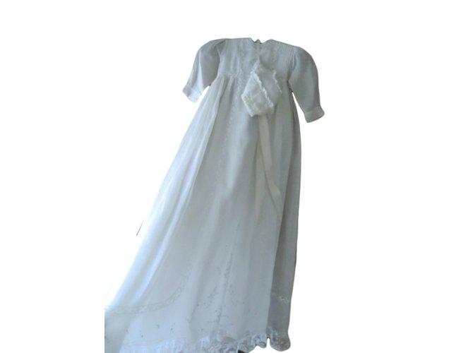 Robes fille Autre Marque Robes fille Coton Blanc ref.62755