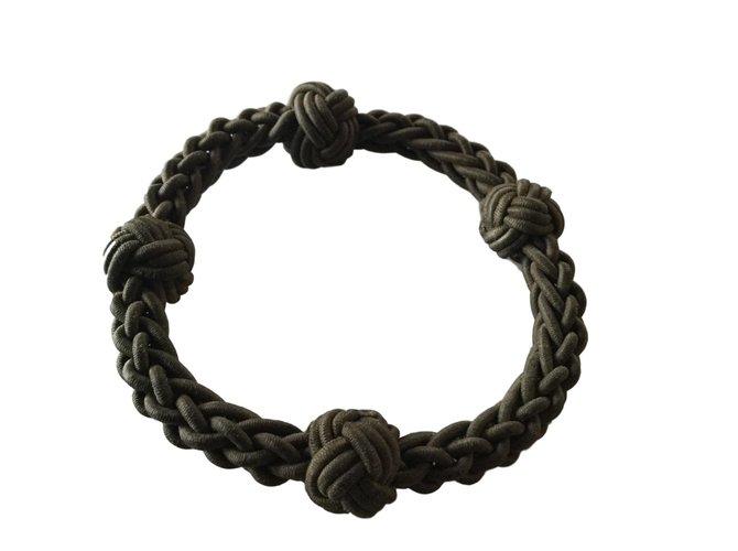 Bracelets Gucci Bracelet Corde Kaki ref.62784