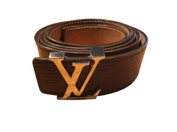Ceintures Louis Vuitton Ceintures Cuir Violet ref.62792 - Joli Closet 00698180e94