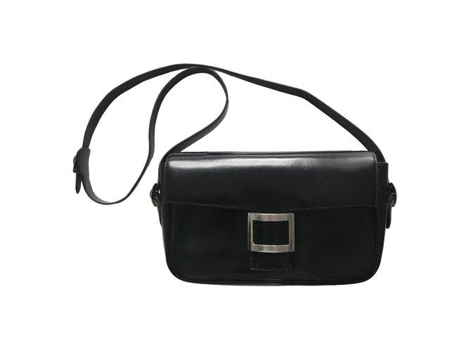 Hermès Sac martine Handbags Leather Black ref.123699