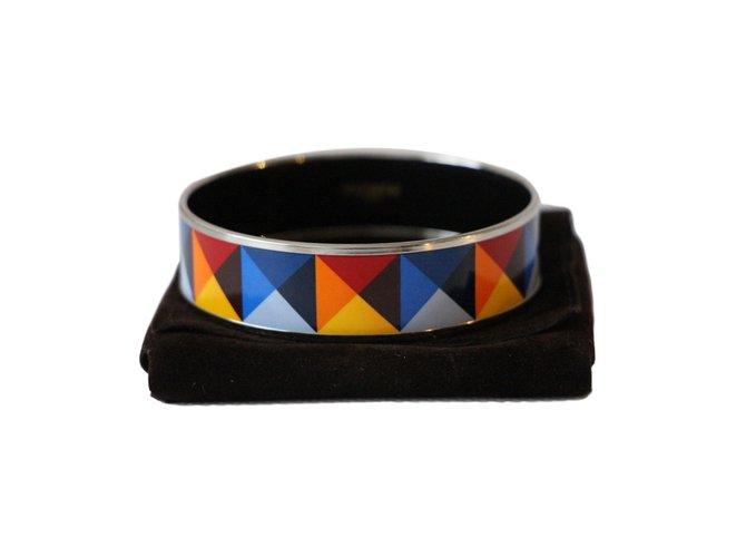 75a31e6d59d Bracelets Hermès émail large Argent Multicolore ref.63057 - Joli Closet