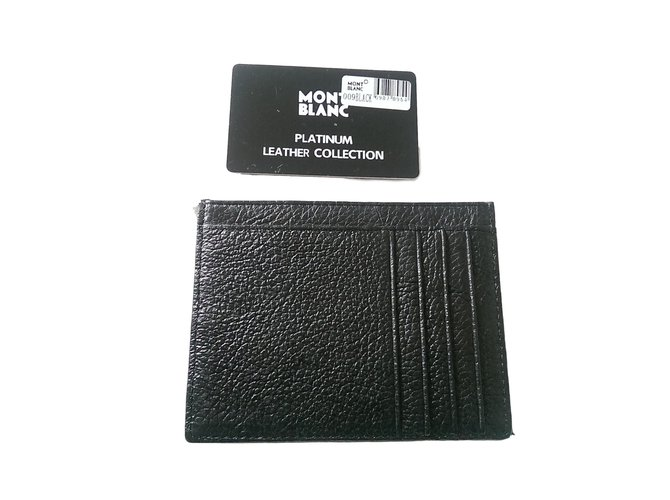 Montblanc Wallets Small accessories Wallets Small accessories Lambskin Black ref.63131