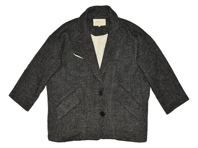 05bc2f6cae8 Isabel Marant Etoile Coats, Outerwear Coats, Outerwear Cotton,Wool Grey  ref.63143