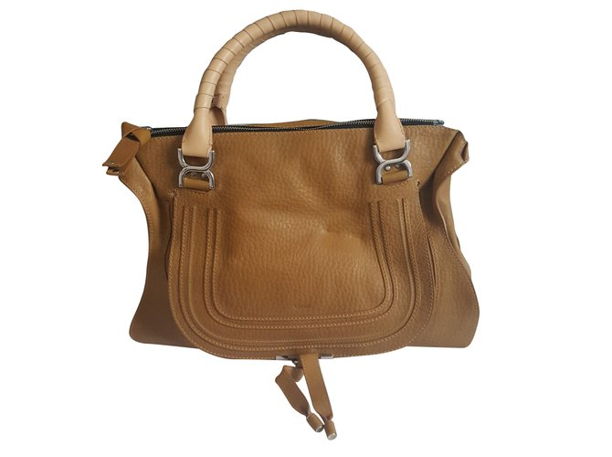 Chloé Marcie Handbags Exotic leather Mustard ref.63170