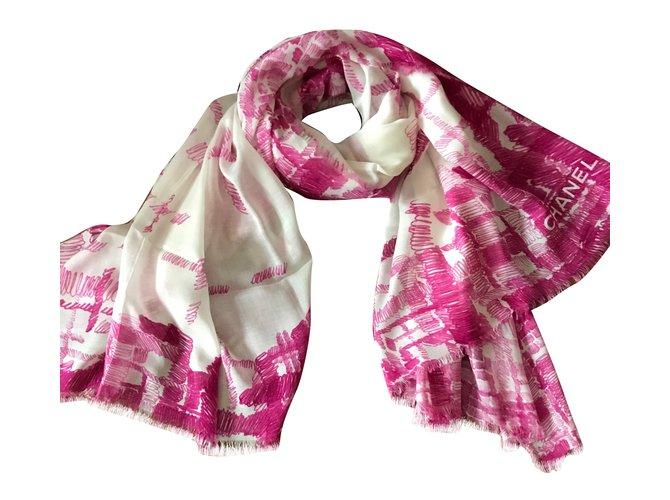 Chanel Scarves Scarves Modal Pink ref.63305