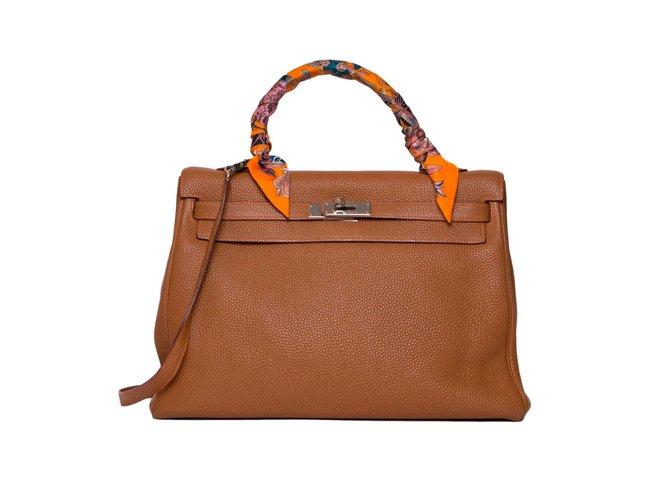 Hermès Kelly 35 Caramel Leather  ref.63341