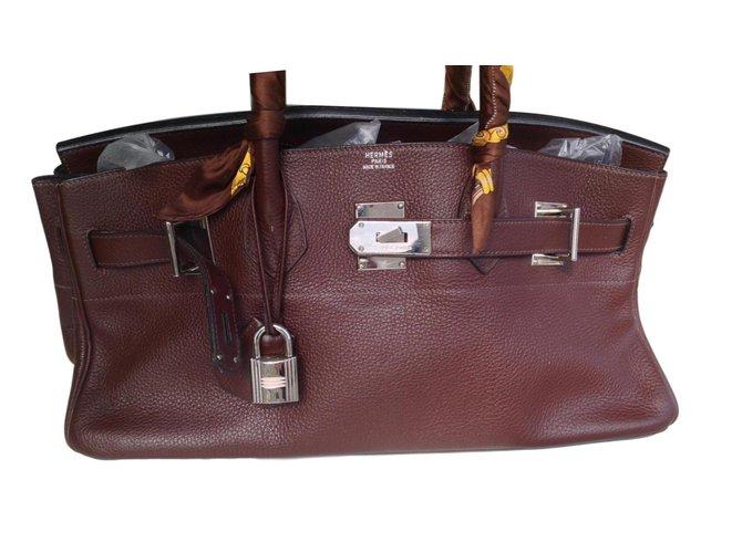 Hermès Birkin shoulder Handbags Leather Brown f7ca3c7f11f35