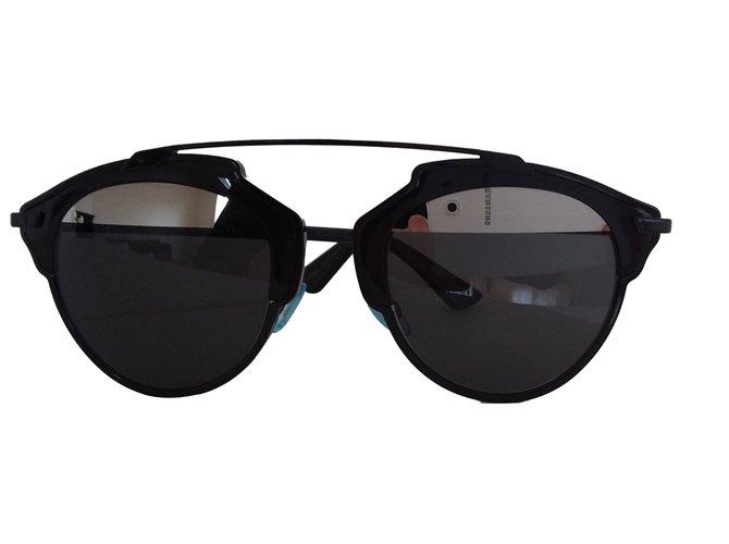 Lunettes Christian Dior Lunettes Dior Plastique Noir ref.63438 ... 79aaa89bf545