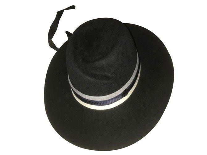 Maison Michel Virginie Hats Other Black,Navy blue ref.63442