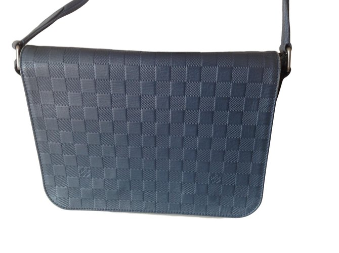 6b33a25d8029 Louis Vuitton Bags Briefcases Bags Briefcases Leather Blue ref.63446 ...