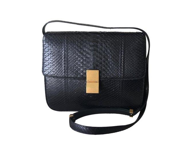 3504175beec3 ... Céline Classic Box Handbags Python Black ref.63497 buy online 8c0eb  5363e ...