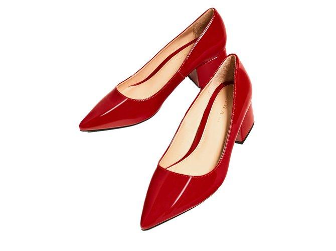 2df8d7a3069 Zara Vegan patent leather block heels Heels Synthetic Red ref.63529 ...