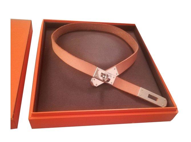 Colliers Hermès Collier Kelly Cuir Autre ref.63641 - Joli Closet 385c9467ed3