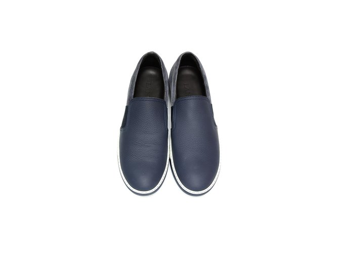 5f498c7db684 Lanvin Lanvin sneakers new Sneakers Leather Navy blue ref.63678 ...
