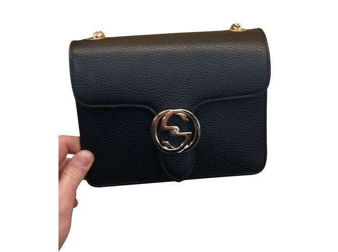 92fa6277b723 Gucci BAG Clutch bags Leather Black ref.63687 - Joli Closet
