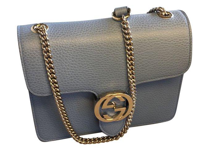 fb488eb8d3fbe Gucci Tasche Clutch Tasche Leder Blau ref.63688