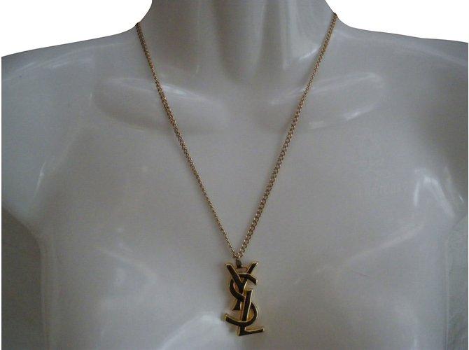 8ec5479cb8c Yves Saint Laurent Necklaces Necklaces Metal Golden ref.63704 - Joli ...