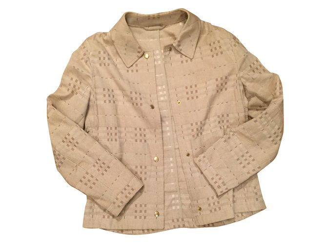 Burberry Jackets Jackets Cotton Beige ref.63916