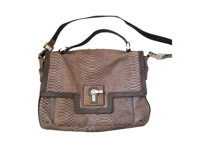 Juicy Couture Handbags Handbags Leather Dark grey ref.63963 - Joli ... f903784b50e19