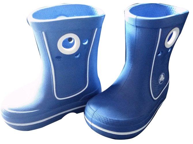 Bottes, bottines Autre Marque Crocs Caoutchouc Bleu ref.64159