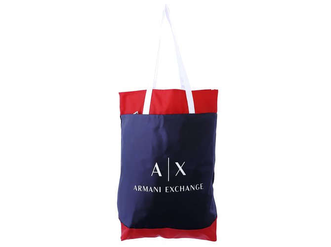 Armani Exchange Handbags Handbags Nylon Blue ref.64435 - Joli Closet 875c6c8d1cfd0