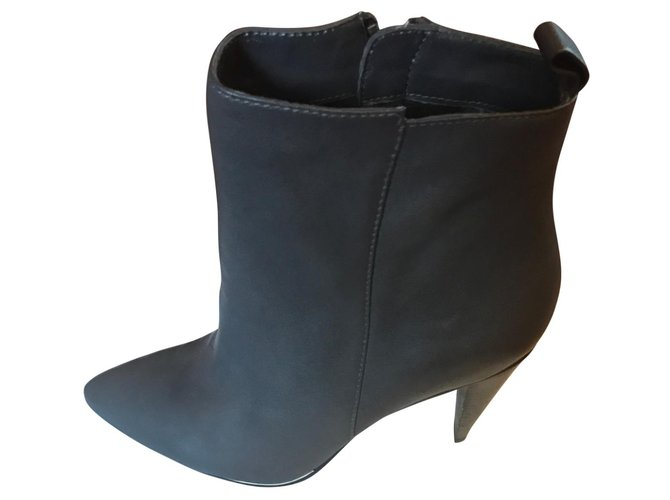 c4916c773e Karen Millen Ankle Boots Ankle Boots Patent leather Grey ref.64508 ...