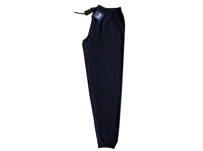 Pantalons homme Autre Marque Pantalon jogging bleu marine XL (50) Neuf TWIN  SET Laine 84d3e2a21e7f