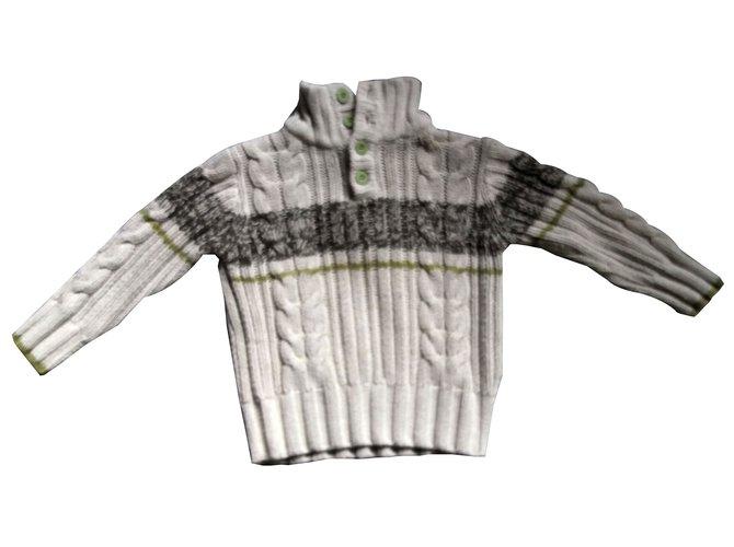 Autre Marque Boy Sweater Sweaters Cotton Beige ref.64768