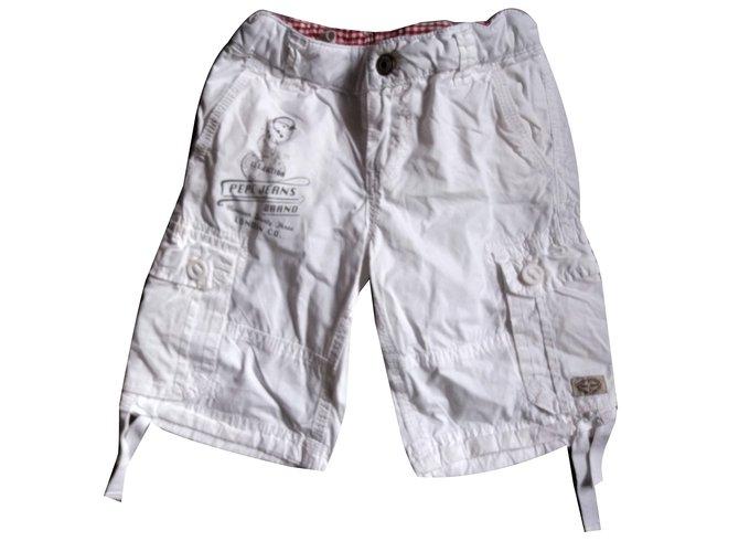 Shorts garçon Pepe Jeans Shorts garçon Coton Blanc ref.64802
