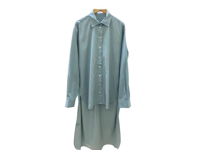 Céline Asymmetrical blouse dresss Dresses Cotton Blue ref.64840