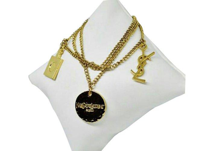 7fdd71939e2 Yves Saint Laurent Bracelets Bracelets Metal Golden ref.64842 - Joli ...