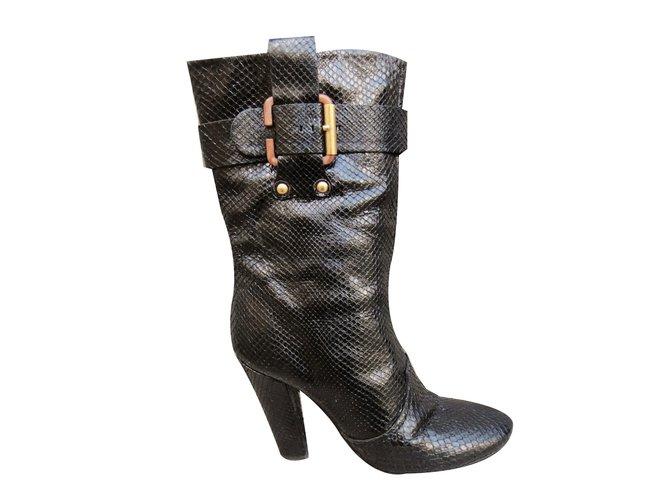 Chloé Ankle Boots Ankle Boots Python Black ref.64852