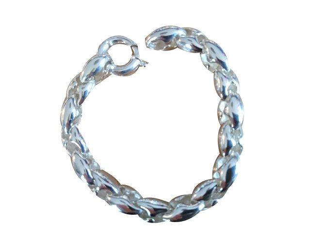 Bracelets Autre Marque Bracelet Argent Argenté ref.64866