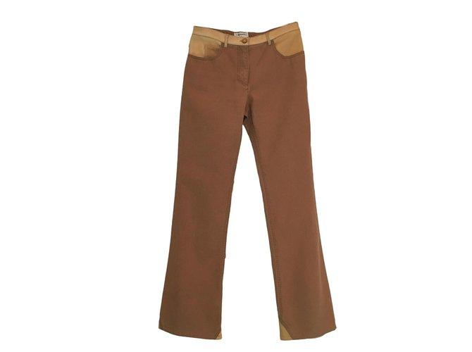 Chanel Jeans Jeans Cotton Beige ref.64889