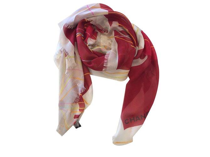 Chanel Scarves Scarves Modal Red ref.64955