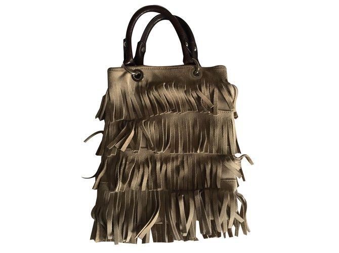Fairmount Hand bags Beige Deerskin  ref.64996