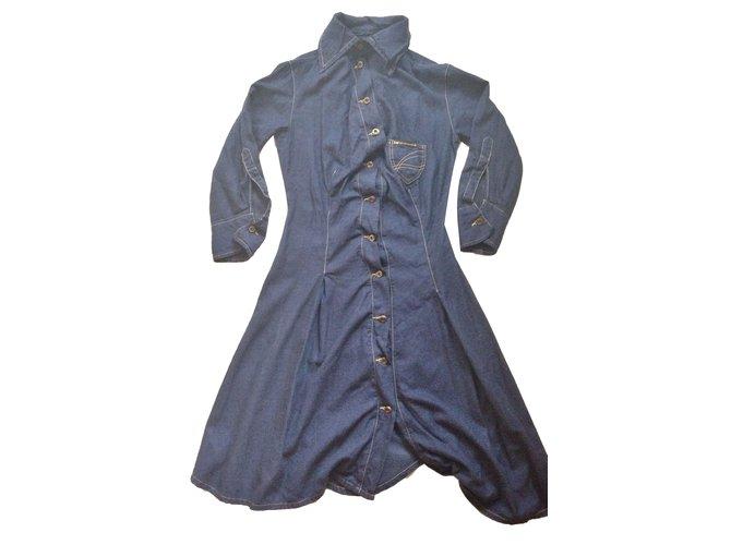 Vivienne Westwood Anglomania Dresses Dresses Cotton Blue ref.65087 ... 5ca197350