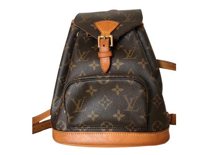 7ca7244b8f26 Louis Vuitton Montsouris Mini Backpack in Canvas Monogram Backpacks  Leather
