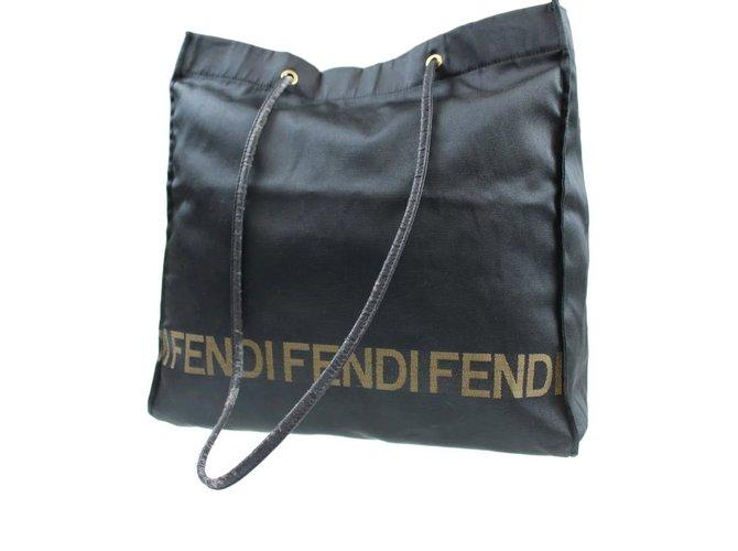 394923b1179d Fendi fendi logo large black tote bag Totes Nylon Black ref.65224 ...