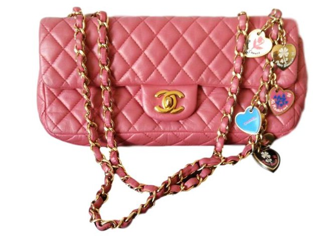 Chanel East West Handbags Leather Pink Ref 65308
