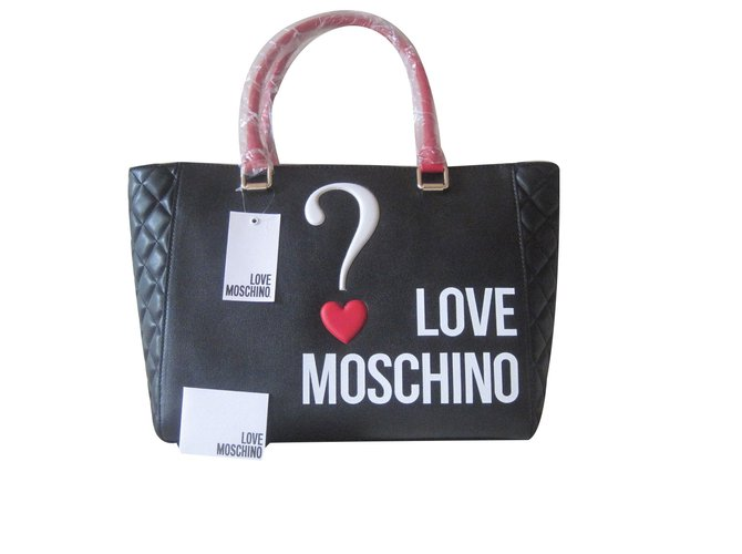 Moschino 2017 2018 Handbags Leather Black Red Ref 65330